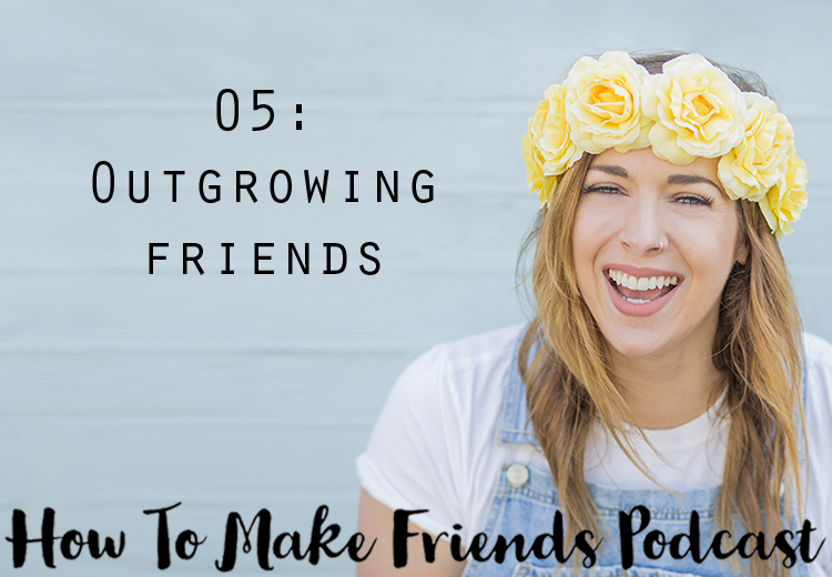 Image of Gemma with text saying Outgrowing friends